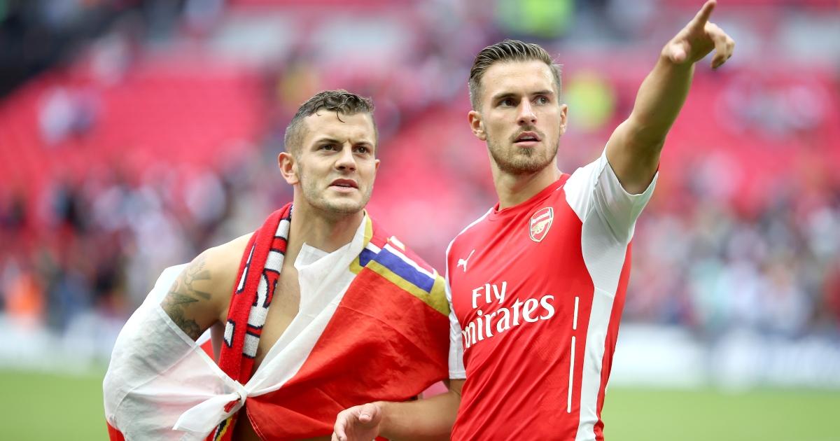 Arsenal's Jack Wilshere and Aaron Ramsey