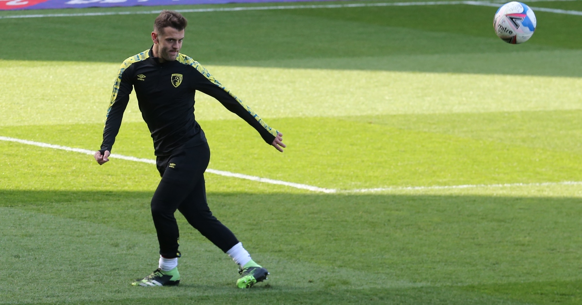 Jack Wilshere during a warm-up