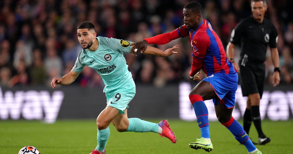 Neal Maupay scores for Brighton against Crystal Palace