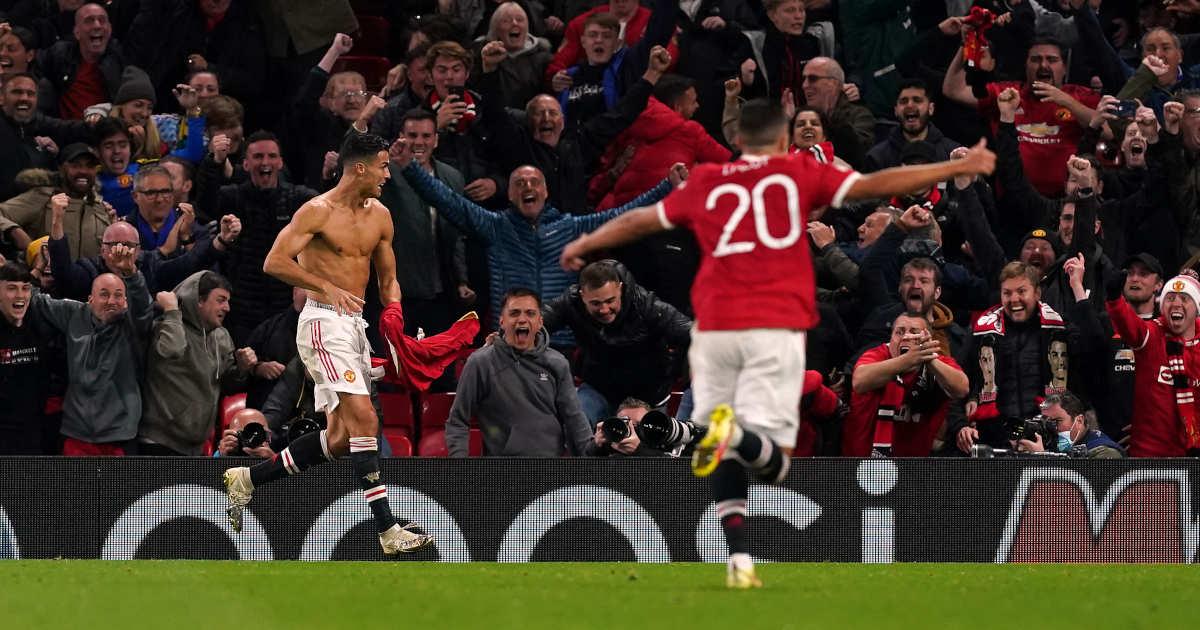 Cristiano Ronaldo celebrates against Villareal