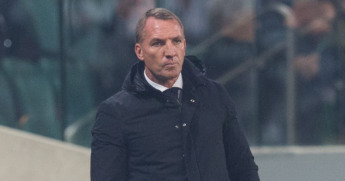 Leicester City boss Rodgers pitchside