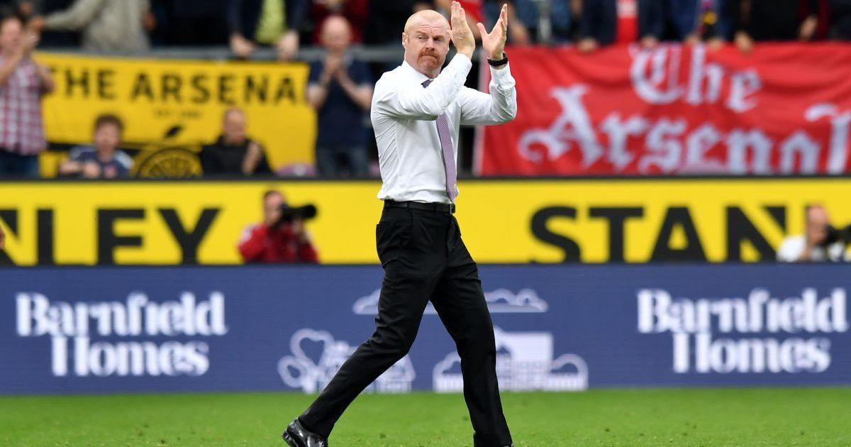 Sean Dyche applauds the Burnley fans