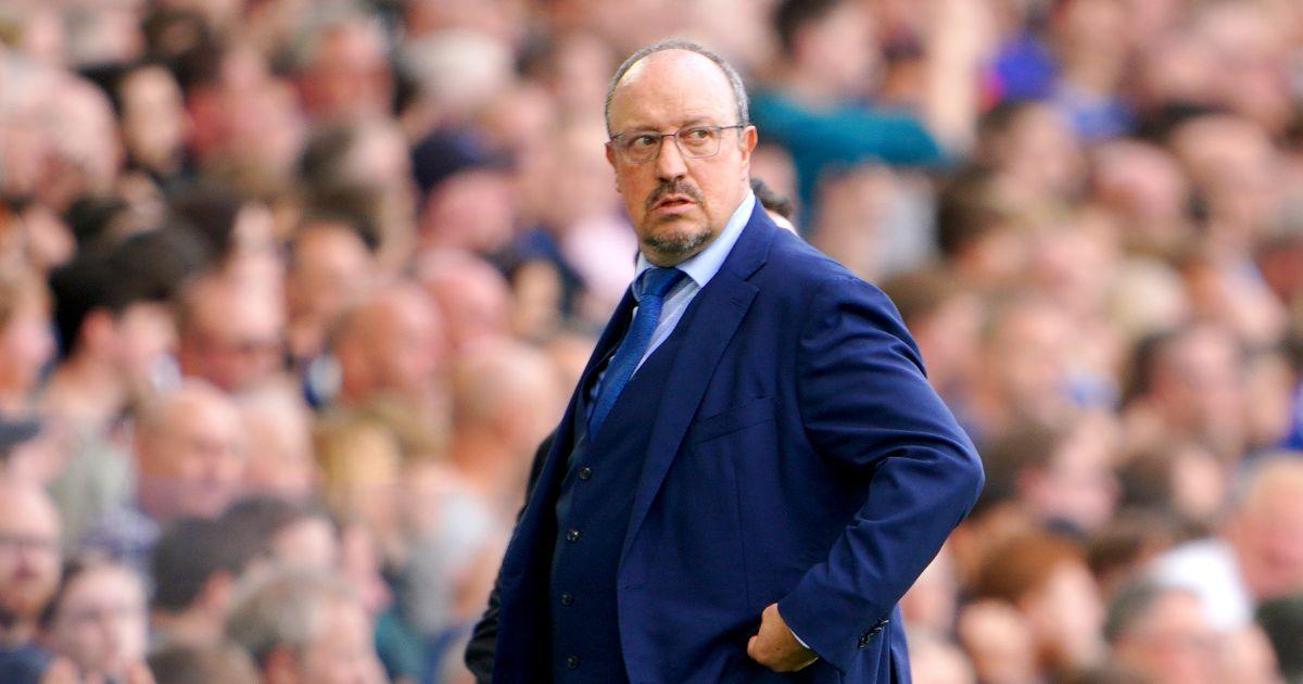 Rafa Benitez looks annoyed