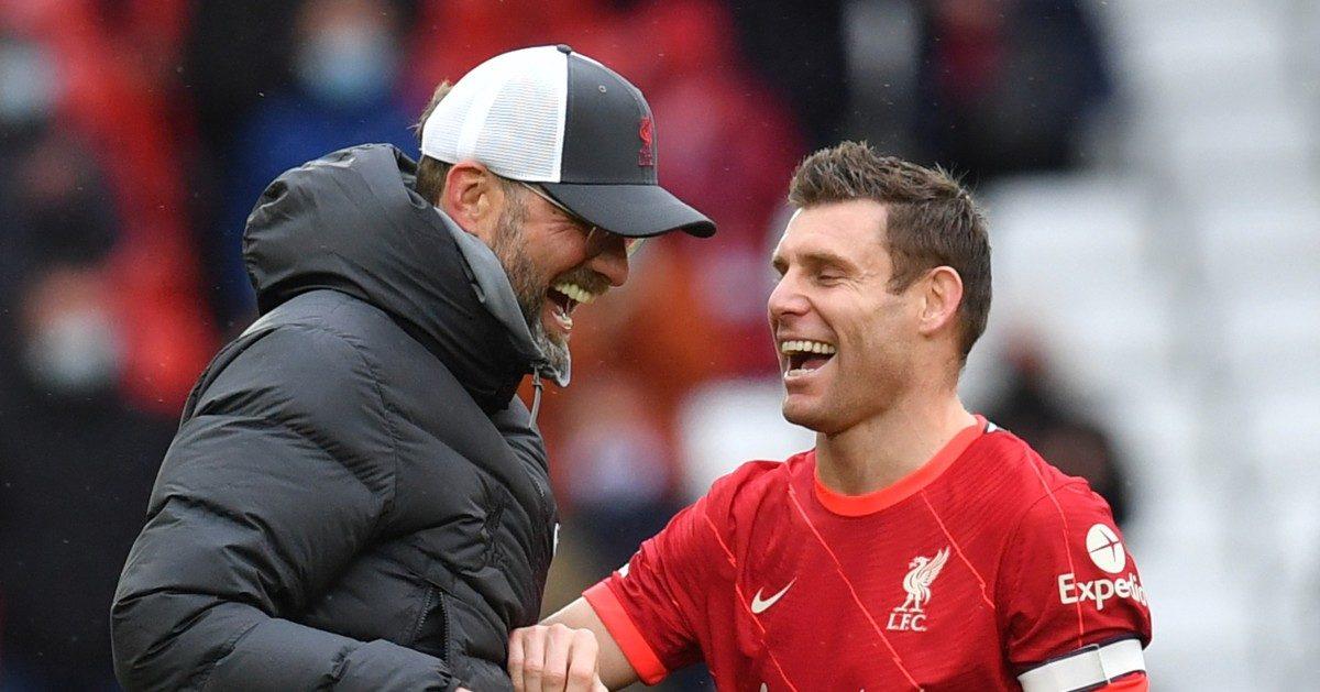 Liverpool's Jurgen Klopp and James Milner