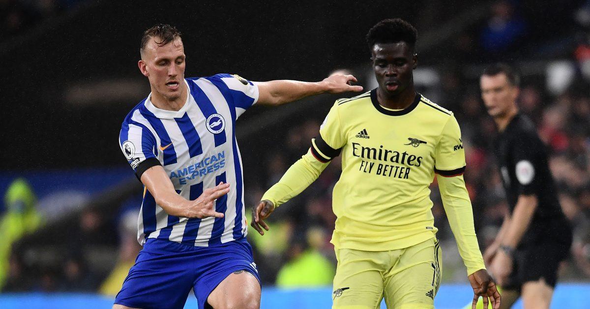 Bukayo Saka in possession for Arsenal