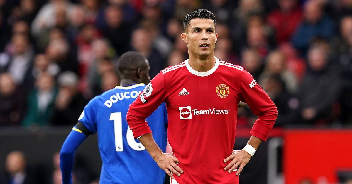Man Utd striker Cristiano Ronaldo puts his hands on his hips