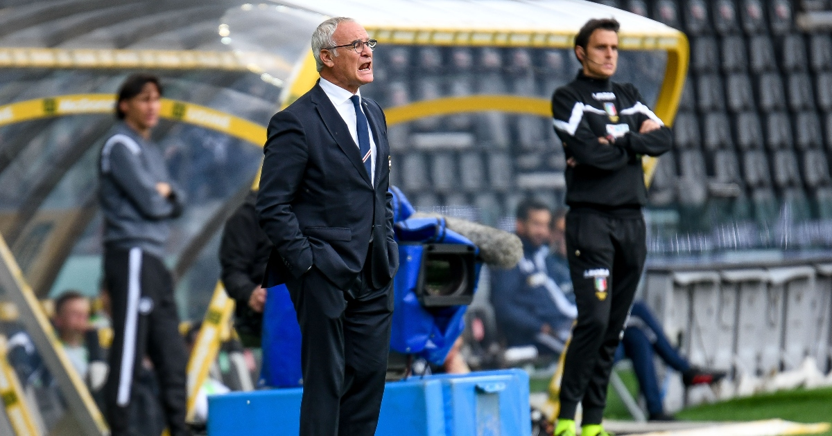 Watford-linked manager Claudio Ranier shouting on the sidelines