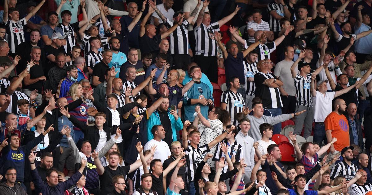 Newcastle United fans in 2021
