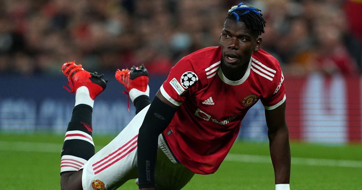 Man Utd midfielder Paul Pogba drops the floor