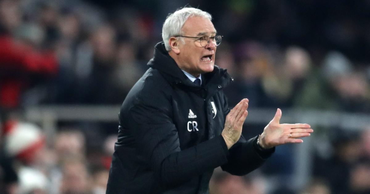 Claudio Ranieri applauding his team