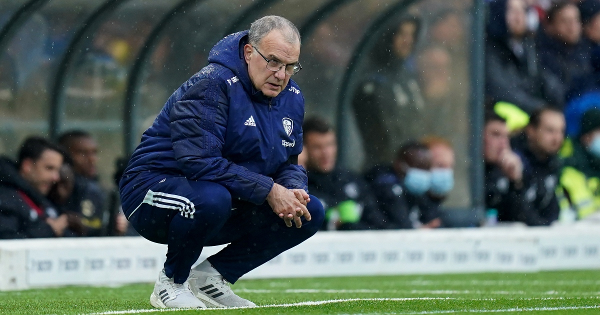 Marcelo Bielsa watches his team from the touchline