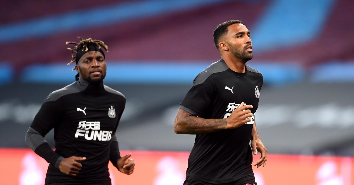 Newcastle forwards Allan Saint-Maximin and Callum Wilson