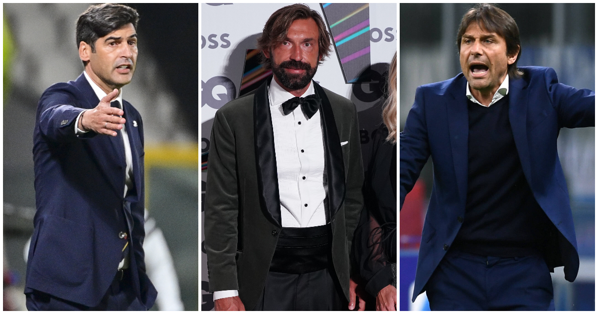 Paulo Fonseca, Antonio Conte and Andrea Pirlo are all out of work.