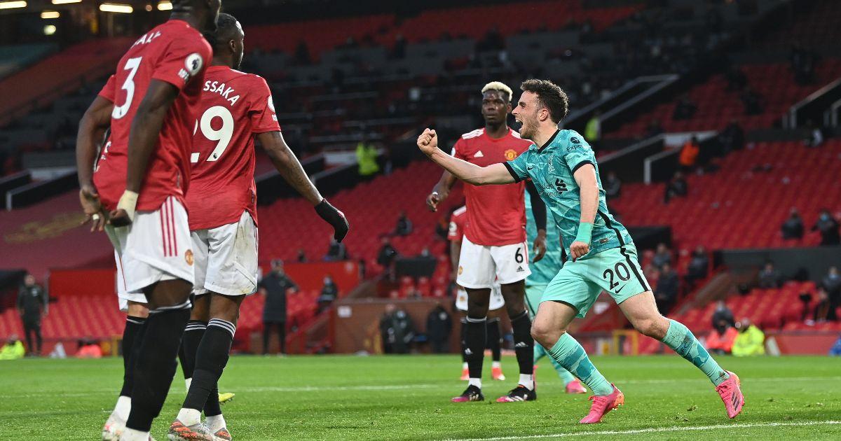 Liverpool forward Diogo Jota celebrates scoring
