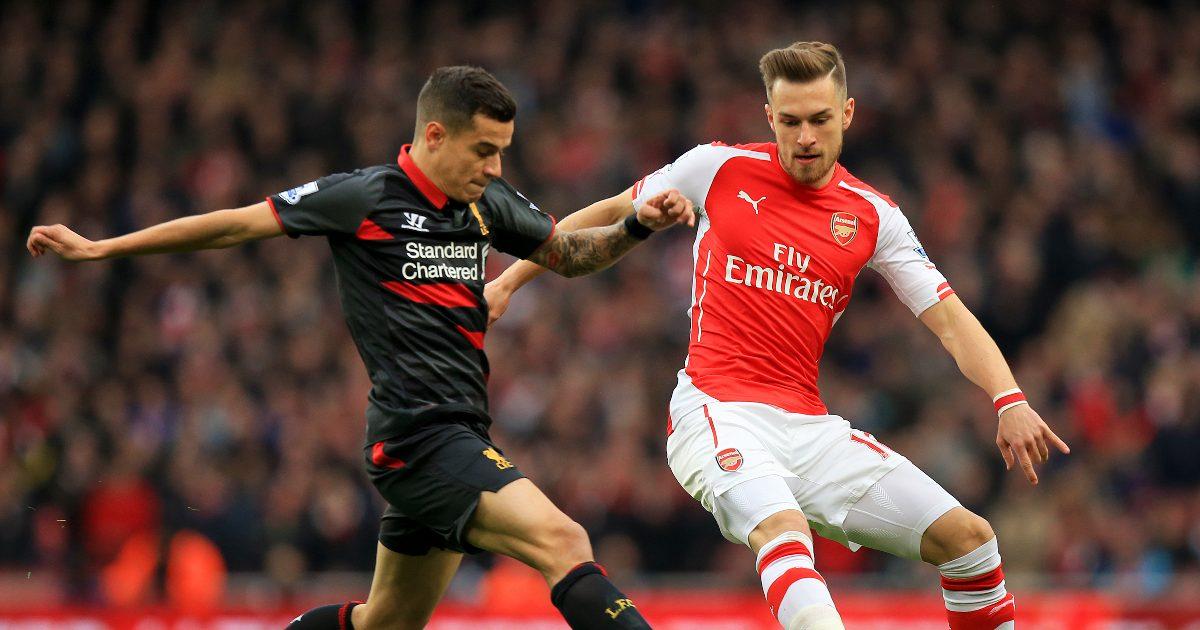 Newcastle-linked Aaron Ramsey alongside Philippe Coutinho