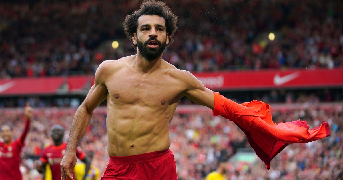 Liverpool forward Mo Salah celebrates