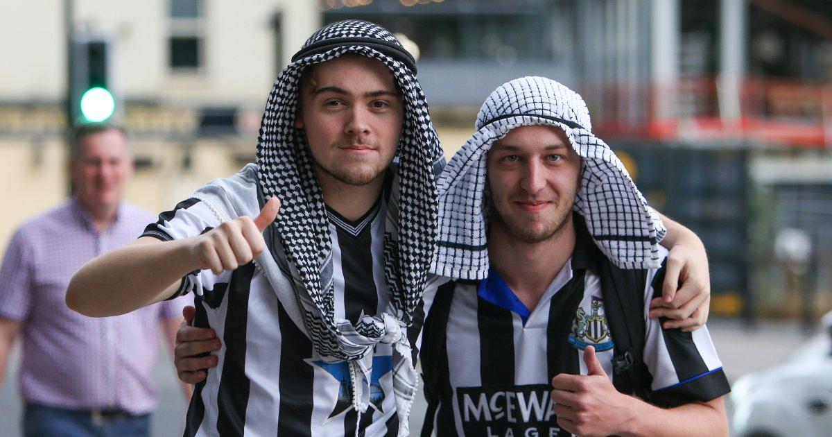 Newcastle United fans doing some sportwashing