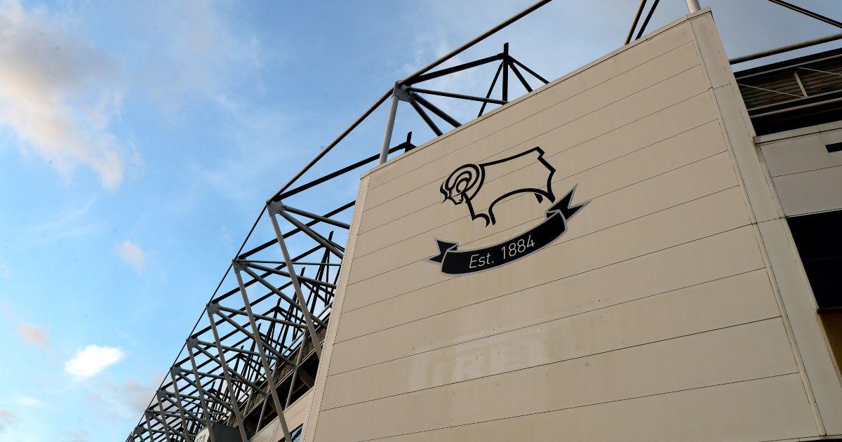 Derby County emblem on display