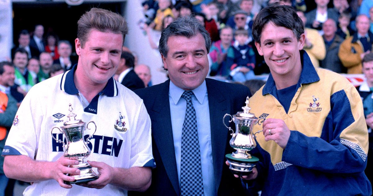 Lineker and Gazza in well-travelled England XI - Football365