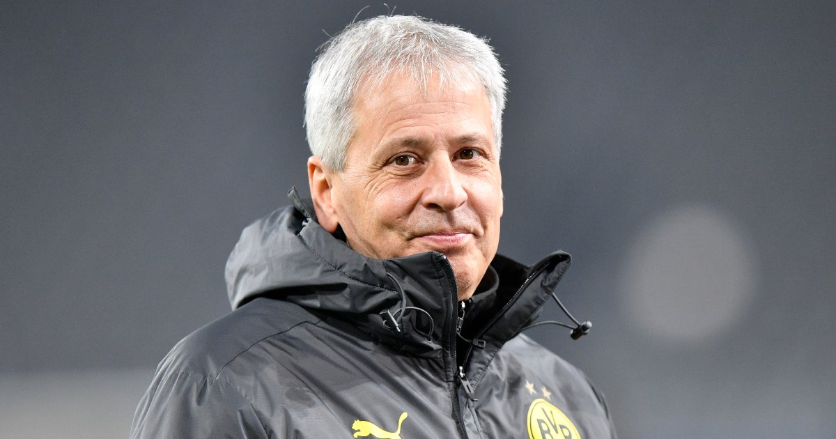 Lucien Favre when he was manager of Borussia Dortmund