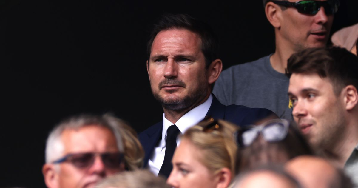 Chelsea legend Frank Lampard watches the tennis