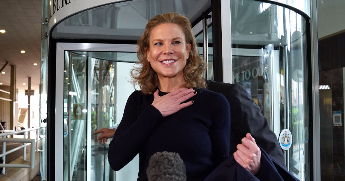 Newcastle United part-owner Amanda Staveley appears at St James' Park