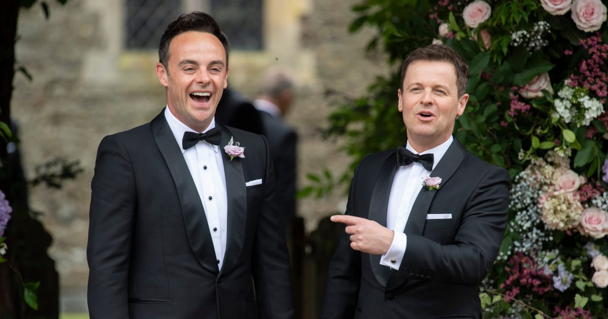 Newcastle fans Ant and Dec
