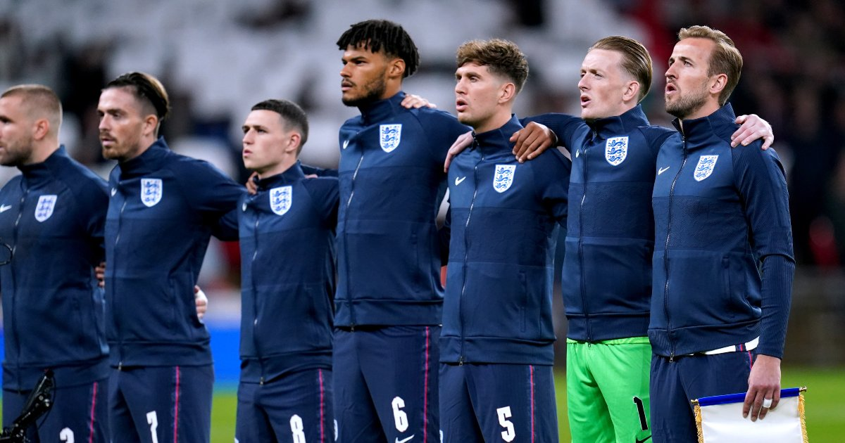 England line up ahead of the Hungary draw