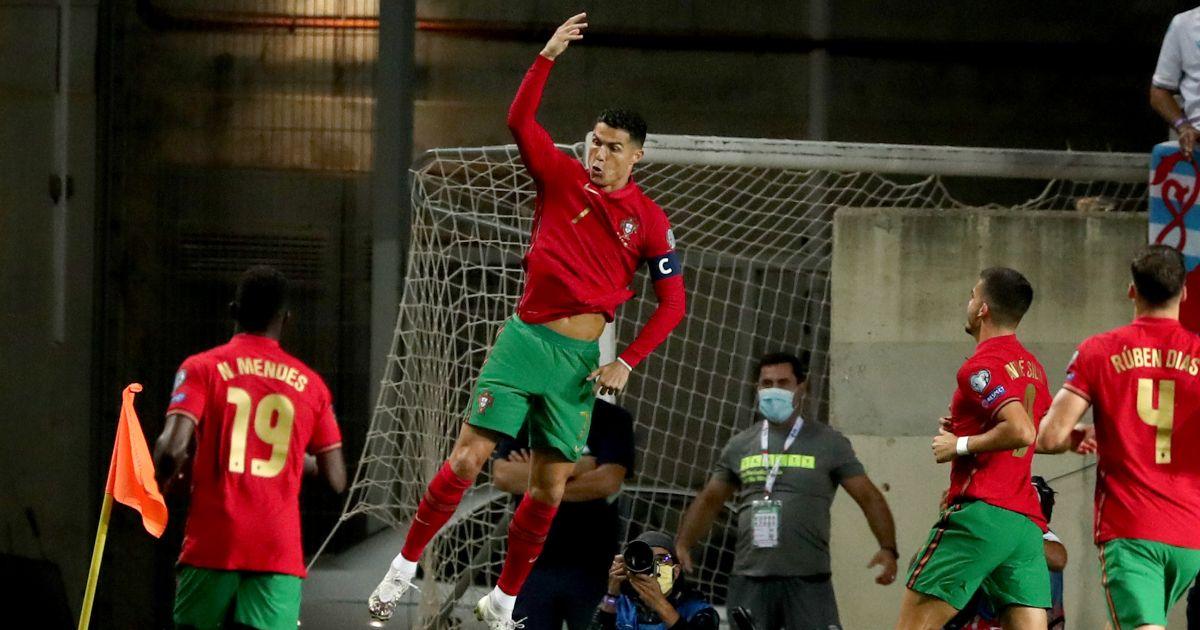 Cristiano Ronaldo celebrates scoring a goal