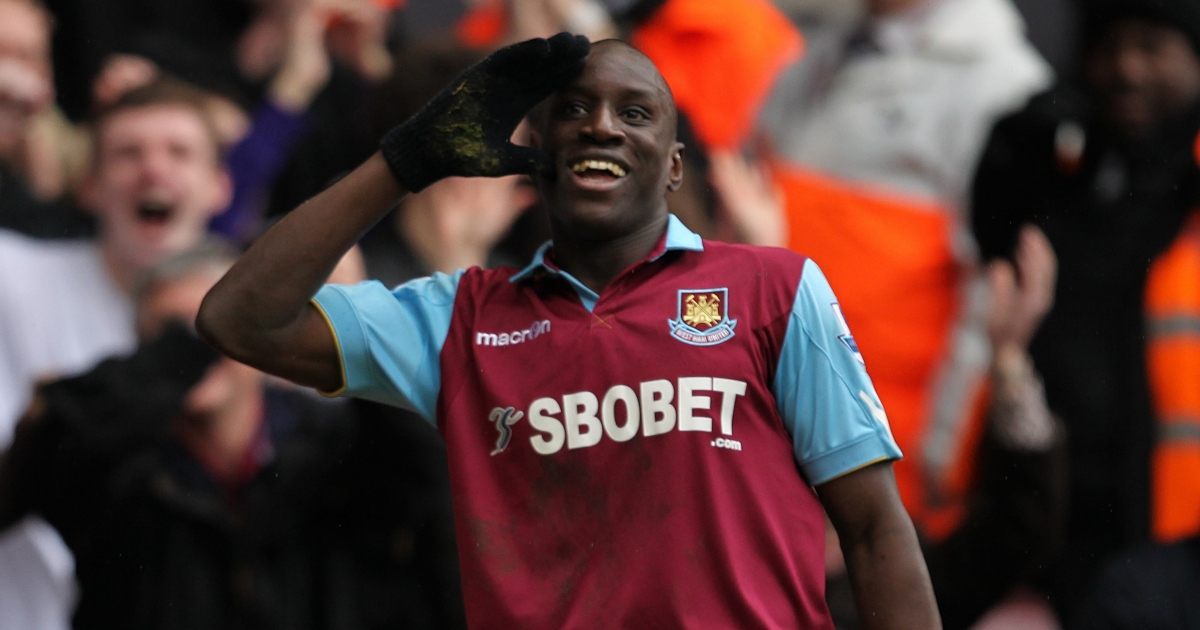 West Ham striker Demba Ba