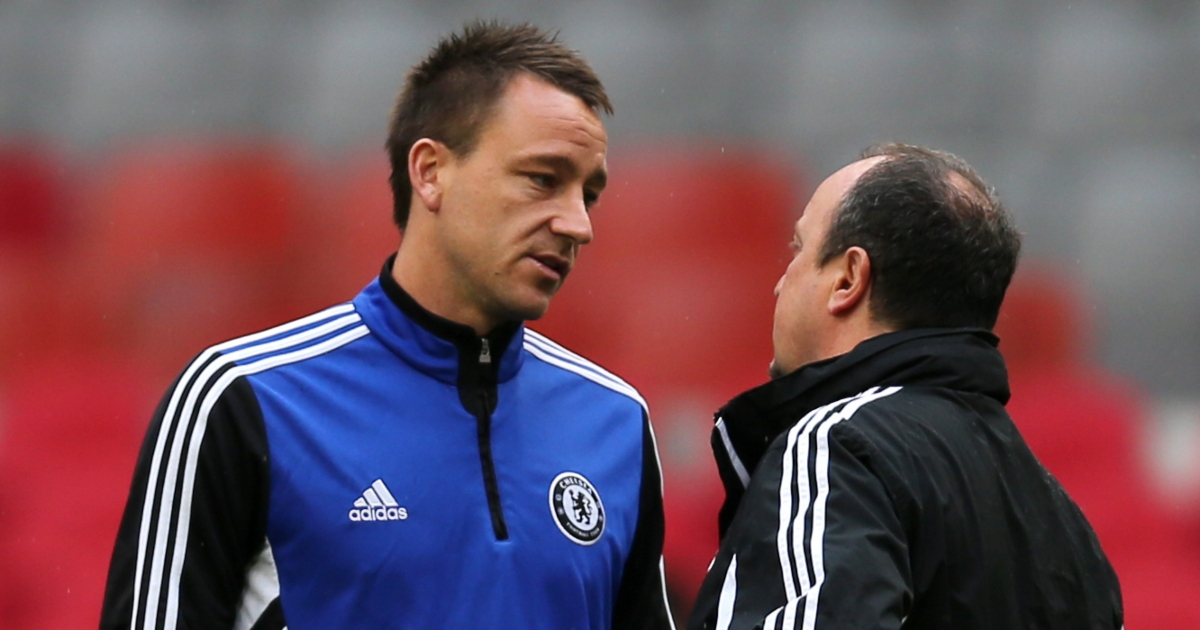 John Terry talks to Rafael Benitez