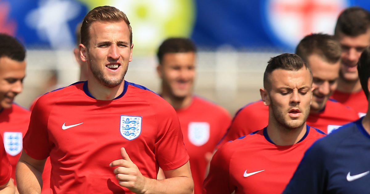 Former Arsenal man Wilshere alongside Kane