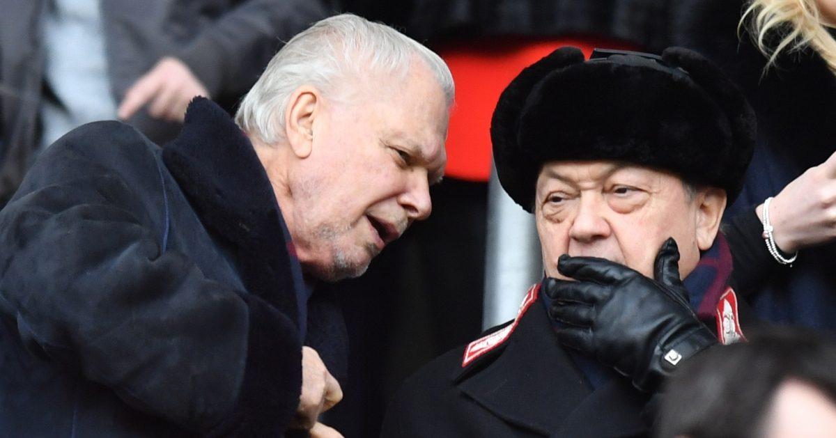West Ham owners David Gold and David Sullivan
