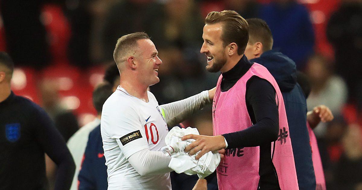 Harry Kane alongside Wayne Rooney