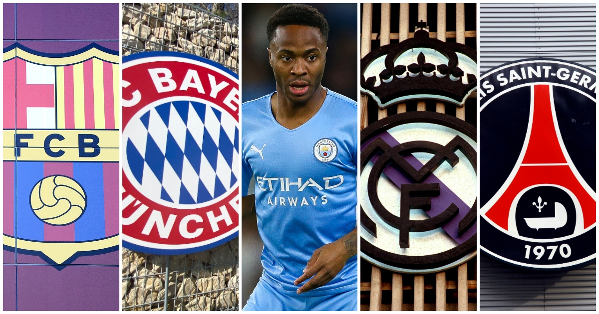 Five possible European destinations for Raheem Sterling assessed...