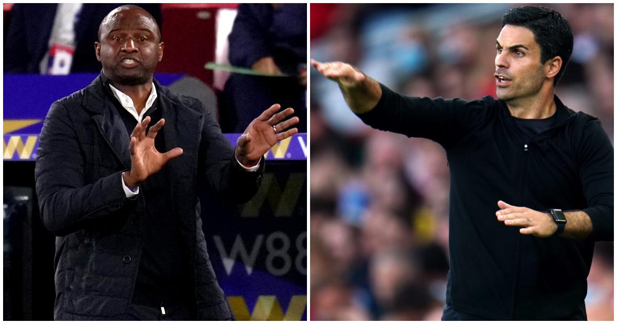 Arsenal v Palace: A midfield battle between former generals Vieira and Arteta