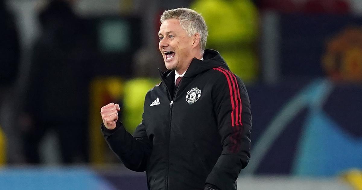 Solskjaer celebrates for Man United