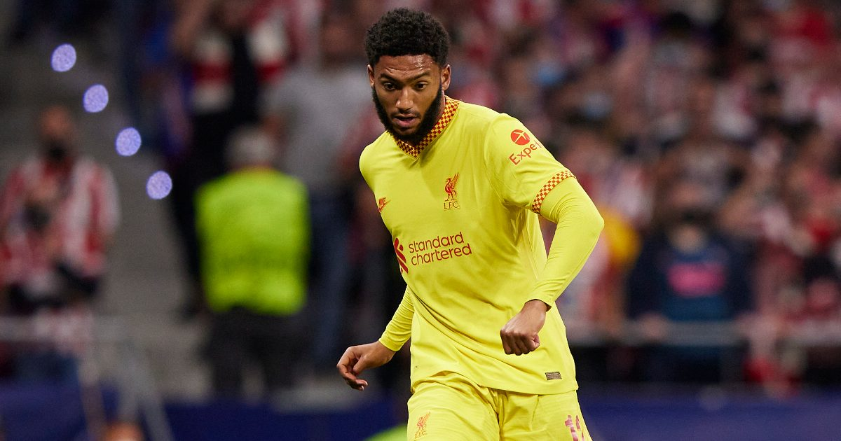 Liverpool star Joe Gomez 'growing increasingly concerned' about his 2022 World Cup chances